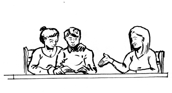 Een gesprek na de uitvaart, evalueren hoe het is gegaan is een dienst die begrafenisonderneming Buitengewoonafscheid aanbied.