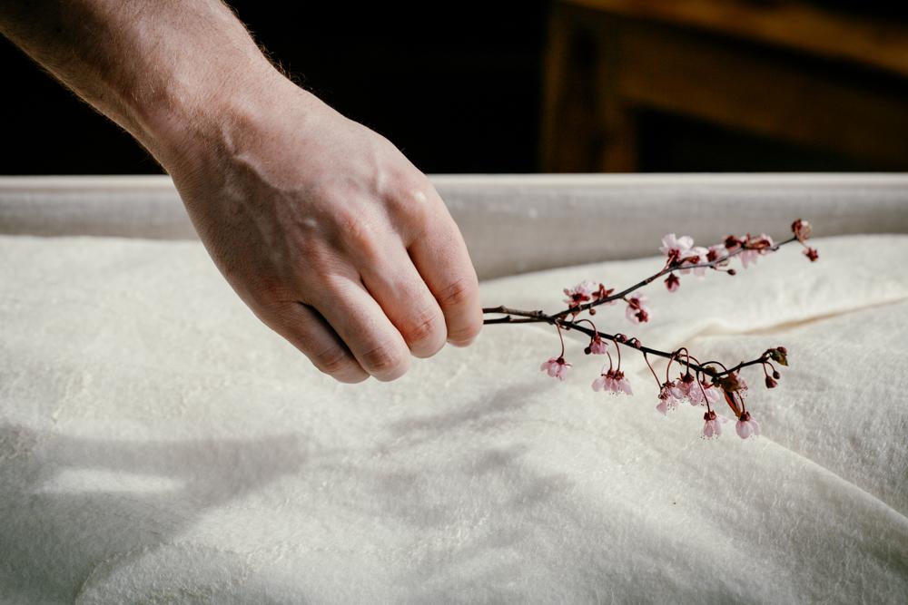 Lijkwade van vilt - begrafenisonderneming Rotterdam